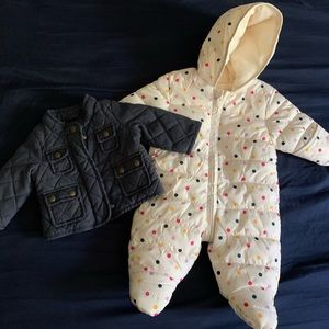 Other - 0-3 months girl jacket and snowsuit